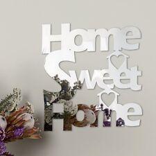Hogar Dulce Hogar Decorativo Autoadhesivo Espejo Decoración De Pared Gratis Reino Unido P&p