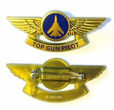 TOP GUN JET PILOT HAT LAPEL BADGE WING PIN PARTY FAVORS 1 NEW
