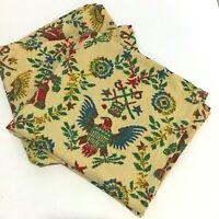 Vintage Novelty Americana Patriotic Barkcloth Fabric Liberty Bell Eagle Drum