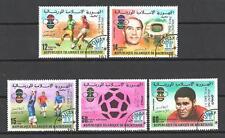 Football Mauritanie (65) série complète 5 timbres oblitérés