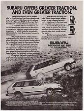 Original 1982 Subaru Wagon Print Ad Vintage