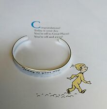 Dr Suess quote bracelet from book Oh the places you'll go Today is your day.