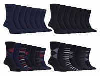 Farah - 7 Pack Mens Thin Patterned Soft Top Cotton Fashion Dress Crew Socks
