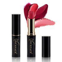 1 * Long Lasting Lipstick NICEFACE 24 color matte metal bare color lipsti RR3k