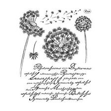 Viva decor A5 clear silicone stamps set-dandelion #107