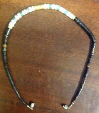 """16"""" Shell Necklace Brown White, Green With Golden Metal Accents JewelsGem.com"""