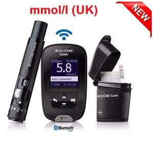 ACCU-CHEK GUIDE BLOOD GLUCOSE METER - MMOL/L - UK VERSION