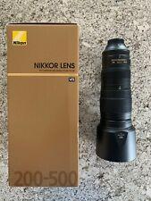Nikon NIKKOR 200-500mm F/5.6 VR Lens-Mint Condition