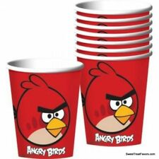 ANGRY BIRDS Party Favor Supplies Birthday Animal CUPS 8PC Decoration Red NEW