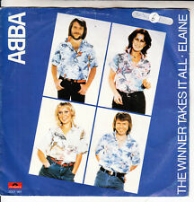 "ABBA The Winner Takes It All PICTURE SLEEVE 7"" 45 record + juke box title strip"