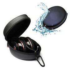 Protection Carrying Hard Black Case Bag For Headphone Earphone Headset Excellent