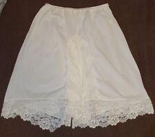 vtg BEELINE FASHIONS ivory tricot nylon #684 HALF SLIP PANTY BLOOMERS sz L