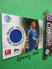 Topps Bundesliga Chrome Trikot Karte Draxler Jersey Card Schalke 2013 14