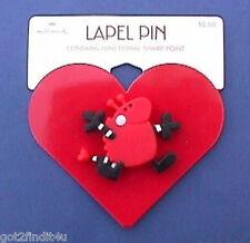 BUY1&GET1@50%~Hallmark PIN Valentines MOC LOVE BUG w HEART Red Vtg Brooch