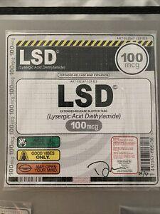 Denial Blotter Print Drugs Psychedelic LSD ACID 100mg Signed #ed COA 1xrun