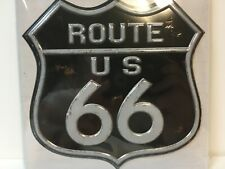 Route US 66 Sign Distressed Vinyl Sticker Decal Walls Laptop Road trip  A2