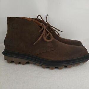 Size 9 Sorel Men's Ace Chukka Waterproof Boots Brown/ Tobacco