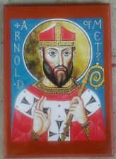EASTERN ORTHODOX ICON OF ST. ARNOLD OF METZ