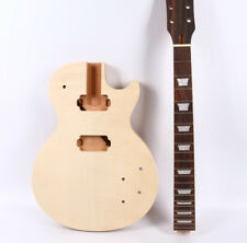 Unfinished Electric Guitar Body Electric Guitar neck One Piece wood 22 fret
