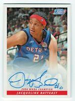 2007 WNBA Authentic Autograph Jacqueline Batteast Detroit Shock 2006 Champions