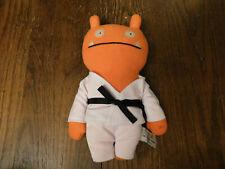 Rare Uglydoll Tae Kwon Wage Plush Orange Ugly Doll in Gi Outfit w/ black belt