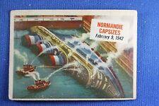 1954 Topps Scoop - #43 Normandie Capsizes - Good Condition