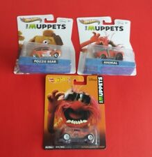 Lot of 3 Mattel Hot Wheels Pop Culture The Muppets Cars***Animal, Fozzie Bear***