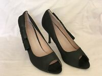 Chic Nana ladies fabric open toe heel shoes leather insole size eur 40 uk 7 🎱