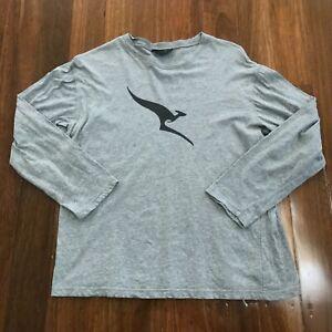 QANTAS Morrissey Airline Grey Long Sleeve Sleepwear T Shirt M / L Medium Large