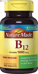 Nature Made Vitamin B-12 1000 Mcg Timed Release Tablets 160 Counts