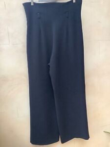 """Vintage 1990's  black """"Palazzo ' wide leg/ high waisted trousers , size 14"""
