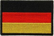 "(B22) GERMAN FLAG 3"" x 2"" iron on patch (5190) Biker Germany"