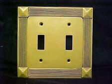 Regal Classic Gold 2 Switch Plate Cover Double Toggle Switch New in Package