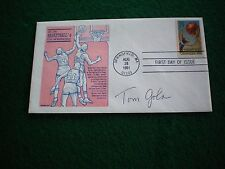 TOM GOLA SIGNED BASKETBALL FIRST DAY COVER (HALL OF FAME)