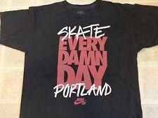 Portland NIKE Skate Every Damn Day SHIRT Mens MED Skateboard SB Skater Black EUC