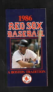 Boston Red Sox--Wade Boggs--1986 Pocket Schedule--Bank of Boston