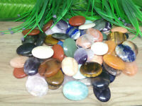 Lot of 50 Mix Worry Stones Crystal Palm Stones Thumb Stones Pocket Stones
