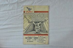 1946 Philadelphia Phillies Game Program