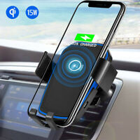 [Auto-Clamp] Gravity Wireless Car Charger Fast Charging 10W Phone Holder Mount