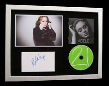 ADELE+SIGNED+FRAMED+21+19+25+HELLO+SKYFALL+SOMEONE=100% GENUINE+FAST+GLOBAL SHIP