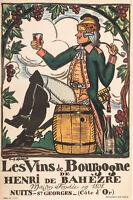 Affiche Originale - Guy Arnoux - Vins de Bourgogne - Nuits st Georges - 1930