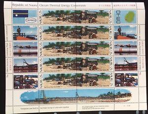 NAURU 1982 Ocean Thermal Energy Conversion Complete Sheets MNH