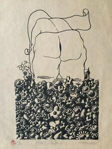Jorge Martell. Lithograph. Que?...la flor o...  ,1970. Original signed. Numbered