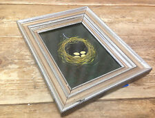 Antique Painting Picture Eggs in Basket Kay Black Nest Old Frame Farm Twigs HELP