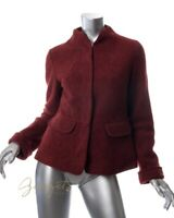 Lilith Size S / 38 Rust Red Short Cropped Wool Jacket