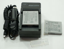 2x Battery + Charger for Canon Ixus 40 50 55 60 65 70 75 80 100 110 120 IS NB-4L
