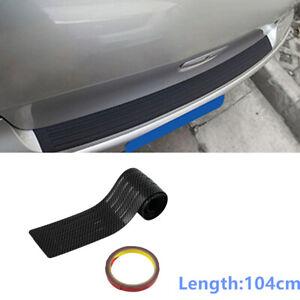 Carbon Fiber Black PVC Rubber Rear Bumper Cover Trim Protector Pad Fits For SUV