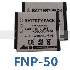Two NP-50 NP50 Batteries for FUJI Fujifilm Camera FinePix X10 X20 XF1 Battery X2
