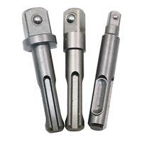 UK_ KF_ 3Pcs SDS 3/8 1/4 1/2inch Shank Electric Drill Bit Converter Hammer Adapt