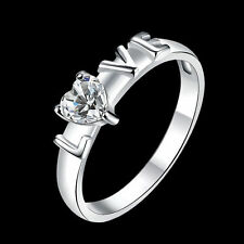 Unique & Elegant Pure 925 Sterling Silver Charms Ring Size: 8.25 #020-T